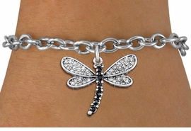 <bR>                EXCLUSIVELY OURS!! <Br>            AN ALLAN ROBIN DESIGN!! <BR>   CLICK HERE TO SEE 1000+ EXCITING <BR>      CHANGES THAT YOU CAN MAKE!<BR>      LEAD, NICKEL & CADMIUM FREE!! <BR> W1393SB - SILVER TONE AND JET CRYSTAL <BR>     DRAGONFLY CHARM & BRACELET <BR>        FROM $5.15 TO $9.00 �2013