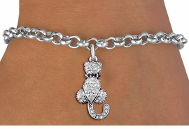 <bR>                EXCLUSIVELY OURS!! <Br>            AN ALLAN ROBIN DESIGN!! <BR>   CLICK HERE TO SEE 1000+ EXCITING <BR>      CHANGES THAT YOU CAN MAKE!<BR>      LEAD, NICKEL & CADMIUM FREE!! <BR> W1394SB - SILVER TONE AND JET CRYSTAL <BR>     SITTING CAT CHARM & BRACELET <BR>        FROM $5.15 TO $9.00 �2013