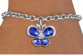 <bR>                 EXCLUSIVELY OURS!! <Br>             AN ALLAN ROBIN DESIGN!! <BR>    CLICK HERE TO SEE 1000+ EXCITING <BR>       CHANGES THAT YOU CAN MAKE!<BR>       LEAD, NICKEL & CADMIUM FREE!! <BR>    W1395SB - SILVER TONE AND BLUE <BR> CRYSTAL BUTTERFLY CHARM & BRACELET <BR>         FROM $5.15 TO $9.00 �2013