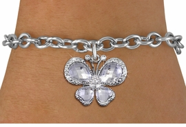 <bR>                 EXCLUSIVELY OURS!! <Br>             AN ALLAN ROBIN DESIGN!! <BR>    CLICK HERE TO SEE 1000+ EXCITING <BR>       CHANGES THAT YOU CAN MAKE!<BR>       LEAD, NICKEL & CADMIUM FREE!! <BR>    W1396SB - SILVER TONE AND CLEAR <BR> CRYSTAL BUTTERFLY CHARM & BRACELET <BR>         FROM $5.15 TO $9.00 �2013