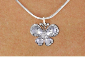 <bR>                    EXCLUSIVELY OURS!! <Br>                AN ALLAN ROBIN DESIGN!! <BR>       CLICK HERE TO SEE 1000+ EXCITING <BR>          CHANGES THAT YOU CAN MAKE! <BR>         LEAD, NICKEL & CADMIUM FREE!! <BR>  W1396SN - SILVER TONE AND CLEAR <BR> CRYSTAL BUTTERFLY CHARM AND NECKLACE <BR>             FROM $5.55 TO $9.00 �2013