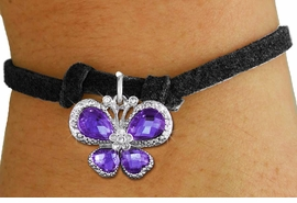 <bR>                 EXCLUSIVELY OURS!! <Br>             AN ALLAN ROBIN DESIGN!! <BR>    CLICK HERE TO SEE 1000+ EXCITING <BR>       CHANGES THAT YOU CAN MAKE!<BR>       LEAD, NICKEL & CADMIUM FREE!! <BR>  W1397SB - SILVER TONE AND PURPLE <BR> CRYSTAL BUTTERFLY CHARM & BRACELET <BR>         FROM $5.15 TO $9.00 �2013