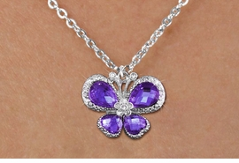 <bR>                    EXCLUSIVELY OURS!! <Br>                AN ALLAN ROBIN DESIGN!! <BR>       CLICK HERE TO SEE 1000+ EXCITING <BR>          CHANGES THAT YOU CAN MAKE! <BR>         LEAD, NICKEL & CADMIUM FREE!! <BR>  W1397SN - SILVER TONE AND PURPLE <BR> CRYSTAL BUTTERFLY CHARM AND NECKLACE <BR>             FROM $5.55 TO $9.00 �2013