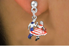 <bR>               EXCLUSIVELY OURS!!<BR>         AN ALLAN ROBIN DESIGN!!<BR>CLICK HERE TO SEE 1000+ EXCITING<BR>   CHANGES THAT YOU CAN MAKE!<BR>                  LEAD & NICKEL FREE!! <BR>W1300SE -  SILVER TONE HAND PAINTED <BR>SQUARE DANCE DANCERS CHARM EARRINGS  <BR>      FROM $3.25 TO $8.00 �2012