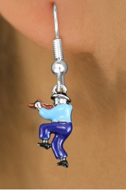 <bR>               EXCLUSIVELY OURS!!<BR>         AN ALLAN ROBIN DESIGN!!<BR>CLICK HERE TO SEE 1000+ EXCITING<BR>   CHANGES THAT YOU CAN MAKE!<BR>                  LEAD & NICKEL FREE!! <BR>W1301SE -  SILVER TONE HAND PAINTED <BR>SQUARE DANCE FIDDLER CHARM EARRINGS  <BR>      FROM $3.25 TO $8.00 �2012