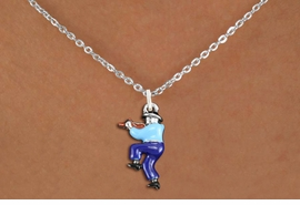 <bR>               EXCLUSIVELY OURS!!<BR>         AN ALLAN ROBIN DESIGN!!<BR>CLICK HERE TO SEE 1000+ EXCITING<BR>   CHANGES THAT YOU CAN MAKE!<BR>                LEAD & NICKEL FREE!! <BR>W1301SN -  SILVER TONE HAND PAINTED <Br>SQUARE DANCE FIDDLER CHARM & NECKLACE <BR>      FROM $4.55 TO $8.00 �2012