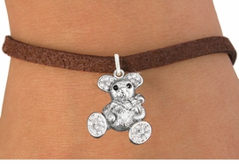<bR>                   EXCLUSIVELY OURS!!<Br>             AN ALLAN ROBIN DESIGN!!<BR>    CLICK HERE TO SEE 120+ EXCITING<BR>       CHANGES THAT YOU CAN MAKE!<BR>        LEAD, NICKEL & CADMIUM FREE!!<BR>W1189SB - CRYSTAL TEDDY BEAR CHARM <Br>  & BRACELET FROM $5.15 TO $9.00 �2012