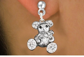 <bR>                   EXCLUSIVELY OURS!!<Br>             AN ALLAN ROBIN DESIGN!!<BR>    CLICK HERE TO SEE 120+ EXCITING<BR>       CHANGES THAT YOU CAN MAKE!<BR>        LEAD, NICKEL & CADMIUM FREE!!<BR>W1189SE - CRYSTAL TEDDY BEAR CHARM<BR> EARRINGS FROM $4.95 TO $10.00 �2012