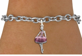 <bR>               EXCLUSIVELY OURS!!<Br>         AN ALLAN ROBIN DESIGN!! <BR>CLICK HERE TO SEE 120+ EXCITING <BR>   CHANGES THAT YOU CAN MAKE!<BR>   LEAD, NICKEL & CADMIUM FREE!! <BR>W1269SB - BEAUTIFUL BALLERINA <BR>ROSE CRYSTAL CHARM & BRACELET <BR>     FROM $5.15 TO $9.00 �2012