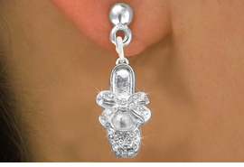 <bR>                 EXCLUSIVELY OURS!!<Br>           AN ALLAN ROBIN DESIGN!!<BR>  CLICK HERE TO SEE 120+ EXCITING<BR>     CHANGES THAT YOU CAN MAKE!<BR>     LEAD, NICKEL & CADMIUM FREE!!<BR>W1270SE - BALLERINA SHOE WITH BOW <BR>      CRYSTAL CHARM EARRINGS <BR>       FROM $4.95 TO $10.00 �2012