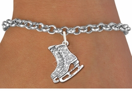 <bR>               EXCLUSIVELY OURS!!<Br>         AN ALLAN ROBIN DESIGN!! <BR>CLICK HERE TO SEE 120+ EXCITING <BR>   CHANGES THAT YOU CAN MAKE!<BR>   LEAD, NICKEL & CADMIUM FREE!! <BR>W1271SB - DETAILED ICE SKATES <BR>     CRYSTAL CHARM & BRACELET <BR>     FROM $5.40 TO $9.85 �2012