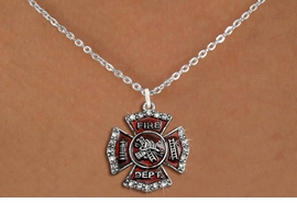 <bR>                  EXCLUSIVELY OURS!!<Br>            AN ALLAN ROBIN DESIGN!!<BR>   CLICK HERE TO SEE 120+ EXCITING<BR>      CHANGES THAT YOU CAN MAKE!<BR>     LEAD, NICKEL & CADMIUM FREE!!<BR> W1284SN - FIRE DEPARTMENT SHIELD <BR>      CRYSTAL CHARM AND NECKLACE <BR>         FROM $5.55 TO $9.00 �2012