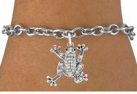 <bR>                      EXCLUSIVELY OURS!!<Br>                AN ALLAN ROBIN DESIGN!!<BR>       CLICK HERE TO SEE 120+ EXCITING<BR>          CHANGES THAT YOU CAN MAKE!<BR>                     LEAD & NICKEL FREE!!<BR> W1075SB - PAVE CRYSTAL FROG CHARM <Br>& BRACELET FROM $5.15 TO $9.00 �2011