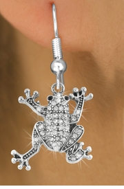 <bR>                   EXCLUSIVELY OURS!!<Br>             AN ALLAN ROBIN DESIGN!!<BR>    CLICK HERE TO SEE 120+ EXCITING<BR>       CHANGES THAT YOU CAN MAKE!<BR>                  LEAD & NICKEL FREE!!<BR>W1075SE - PAVE CRYSTAL FROG CHARM<BR>EARRINGS FROM $4.95 TO $10.00 �2011