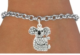 <bR>                      EXCLUSIVELY OURS!!<Br>                AN ALLAN ROBIN DESIGN!!<BR>       CLICK HERE TO SEE 120+ EXCITING<BR>          CHANGES THAT YOU CAN MAKE!<BR>                     LEAD & NICKEL FREE!!<BR> W1076SB - PAVE CRYSTAL KOALA CHARM <Br>  & BRACELET FROM $5.40 TO $9.85 �2011