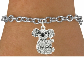 <bR>                      EXCLUSIVELY OURS!!<Br>                AN ALLAN ROBIN DESIGN!!<BR>       CLICK HERE TO SEE 120+ EXCITING<BR>          CHANGES THAT YOU CAN MAKE!<BR>                     LEAD & NICKEL FREE!!<BR> W1076SB - PAVE CRYSTAL KOALA CHARM <Br>  & BRACELET FROM $5.15 TO $9.00 �2011