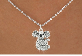<bR>                      EXCLUSIVELY OURS!!<Br>                AN ALLAN ROBIN DESIGN!!<BR>       CLICK HERE TO SEE 120+ EXCITING<BR>          CHANGES THAT YOU CAN MAKE!<BR>                     LEAD & NICKEL FREE!!<BR>W1076SN - PAVE CRYSTAL KOALA CHARM &<BR>   NECKLACE FROM $5.55 TO $9.00 �2011