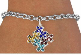 <bR>                   EXCLUSIVELY OURS!!<Br>             AN ALLAN ROBIN DESIGN!!<BR>    CLICK HERE TO SEE 120+ EXCITING<BR>       CHANGES THAT YOU CAN MAKE!<BR>                  LEAD & NICKEL FREE!!<BR>W1127SB - CRYSTAL AUTISM PUZZLE CHARM &<Br>BRACELET FROM $5.40 TO $9.85 �2011