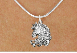 <bR>                      EXCLUSIVELY OURS!!<Br>                AN ALLAN ROBIN DESIGN!!<BR>       CLICK HERE TO SEE 120+ EXCITING<BR>          CHANGES THAT YOU CAN MAKE!<BR>                     LEAD & NICKEL FREE!!<BR>W1140SN - CRYSTAL HORSE CHARM<BR> & NECKLACE FROM $5.55 TO $9.00 �2012