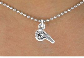 <bR>              EXCLUSIVELY OURS!!<Br>         AN ALLAN ROBIN DESIGN!!<BR>CLICK HERE TO SEE 120+ EXCITING<BR>  CHANGES THAT YOU CAN MAKE!<BR>             LEAD & NICKEL FREE!!<BR>       W625SN - WHISTLE CHARM<BR>     & NECKLACE AS LOW AS $4.50