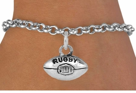 <bR>               EXCLUSIVELY OURS!!<Br>         AN ALLAN ROBIN DESIGN!!<BR>CLICK HERE TO SEE 120+ EXCITING<BR>   CHANGES THAT YOU CAN MAKE!<BR>              LEAD & NICKEL FREE!!<BR>       W661SB -  RUGBY CHARM &<Br>    BRACELET FROM $4.50 TO $8.35