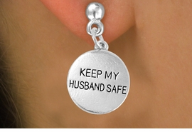 "<bR>                  EXCLUSIVELY OURS!!<Br>           AN ALLAN ROBIN DESIGN!!<BR>   CLICK HERE TO SEE 120+ EXCITING<BR>      CHANGES THAT YOU CAN MAKE!<BR>                 LEAD & NICKEL FREE!!<BR>W663SE -  ""KEEP MY HUSBAND SAFE""<br>             CHARM & EARRING FROM<bR>                        $3.25 TO $8.00"