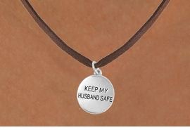 "<bR>                   EXCLUSIVELY OURS!!<Br>             AN ALLAN ROBIN DESIGN!!<BR>    CLICK HERE TO SEE 120+ EXCITING<BR>       CHANGES THAT YOU CAN MAKE!<BR>                  LEAD & NICKEL FREE!!<BR>W663SN -  ""KEEP MY HUSBAND SAFE""<Br>       NECKLACE FROM $4.50 TO $8.35"