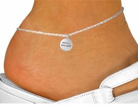 "<bR>               EXCLUSIVELY OURS!!<BR>         AN ALLAN ROBIN DESIGN!!<BR>CLICK HERE TO SEE 120+ EXCITING<BR>   CHANGES THAT YOU CAN MAKE!<BR>              LEAD & NICKEL FREE!!<BR>W664SAK - ""KEEP MY SON SAFE""<BR>   & ANKLET FROM $2.85 TO $7.50"