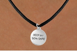 "<bR>                 EXCLUSIVELY OURS!!<Br>           AN ALLAN ROBIN DESIGN!!<BR>  CLICK HERE TO SEE 120+ EXCITING<BR>    CHANGES THAT YOU CAN MAKE!<BR>                LEAD & NICKEL FREE!!<BR>   W664SN -  ""KEEP MY SON SAFE""<Br>            CHARM NECKLACE FROM<bR>                       $4.50 TO $8.35"
