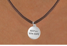 "<bR>                 EXCLUSIVELY OURS!!<Br>           AN ALLAN ROBIN DESIGN!!<BR>  CLICK HERE TO SEE 120+ EXCITING<BR>    CHANGES THAT YOU CAN MAKE!<BR>                LEAD & NICKEL FREE!!<BR>   W664SN -  ""KEEP MY SON SAFE""<Br>            CHARM NECKLACE FROM<bR>                       $4.05 TO $7.50"
