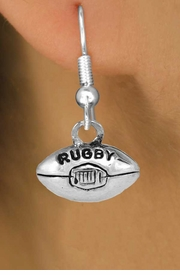<bR>               EXCLUSIVELY OURS!!<Br>        AN ALLAN ROBIN DESIGN!!<BR>CLICK HERE TO SEE 120+ EXCITING<BR>   CHANGES THAT YOU CAN MAKE!<BR>              LEAD & NICKEL FREE!!<BR>        W661SE -  RUGBY CHARM<Br> & EARRING FROM $4.50 TO $8.35