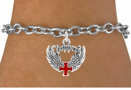 <bR>               EXCLUSIVELY OURS!!<Br>         AN ALLAN ROBIN DESIGN!!<BR>CLICK HERE TO SEE 120+ EXCITING<BR>   CHANGES THAT YOU CAN MAKE!<BR>              LEAD & NICKEL FREE!!<BR>     W674SB - CHOPPER CROSS &<Br>   WINGS CHARM BRACELET FROM<Br>                      $3.65 TO $7.50
