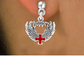 <bR>                 EXCLUSIVELY OURS!!<Br>          AN ALLAN ROBIN DESIGN!!<BR>CLICK HERE TO SEE 120+ EXCITING<BR>   CHANGES THAT YOU CAN MAKE!<BR>              LEAD & NICKEL FREE!!<BR>     W674SE - CHOPPER CROSS &<BR>   WINGS CHARM EARRINGS FROM<Br>                     $3.25 TO $8.00