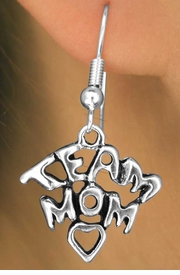 "<bR>                EXCLUSIVELY OURS!!<Br>         AN ALLAN ROBIN DESIGN!!<BR>CLICK HERE TO SEE 120+ EXCITING<BR>   CHANGES THAT YOU CAN MAKE!<BR>              LEAD & NICKEL FREE!!<BR>W682SE - ""TEAM MOM"" CHARM &<BR>   EARRINGS FROM $4.50 TO $8.35"