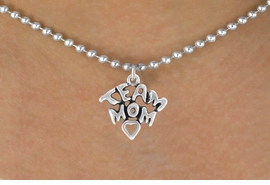 "<bR>                 EXCLUSIVELY OURS!!<Br>           AN ALLAN ROBIN DESIGN!!<BR>  CLICK HERE TO SEE 120+ EXCITING<BR>     CHANGES THAT YOU CAN MAKE!<BR>                LEAD & NICKEL FREE!!<BR> W682SN - ""TEAM MOM"" CHARM &<BR>     NECKLACE FROM $4.50 TO $8.35"