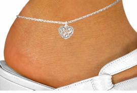 <bR>                EXCLUSIVELY OURS!!<BR>          AN ALLAN ROBIN DESIGN!!<BR> CLICK HERE TO SEE 120+ EXCITING<BR>    CHANGES THAT YOU CAN MAKE!<BR>               LEAD & NICKEL FREE!!<BR>   W713SAK - SCROLL WORK HEART<Br>     & ANKLET FROM $2.85 TO $7.50