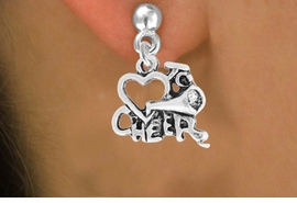"<bR>                 EXCLUSIVELY OURS!!<Br>           AN ALLAN ROBIN DESIGN!!<BR>  CLICK HERE TO SEE 120+ EXCITING<BR>     CHANGES THAT YOU CAN MAKE!<BR>                LEAD & NICKEL FREE!!<BR>        W717SE - ""LOVE TO CHEER"" &<BR>    EARRINGS FROM $3.25 TO $8.00"