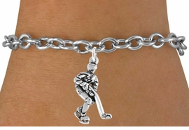 <bR>               EXCLUSIVELY OURS!!<Br>         AN ALLAN ROBIN DESIGN!!<BR>CLICK HERE TO SEE 120+ EXCITING<BR>   CHANGES THAT YOU CAN MAKE!<BR>              LEAD & NICKEL FREE!!<BR>W739SB - HOCKEY PLAYER CHARM<Br>   BRACELET FROM $3.65 TO $7.50