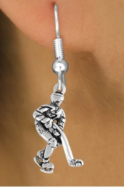 <bR>                 EXCLUSIVELY OURS!!<Br>           AN ALLAN ROBIN DESIGN!!<BR>  CLICK HERE TO SEE 120+ EXCITING<BR>     CHANGES THAT YOU CAN MAKE!<BR>                LEAD & NICKEL FREE!!<BR>  W739SE - HOCKEY PLAYER CHARM<BR>     EARRINGS FROM $3.25 TO $8.00
