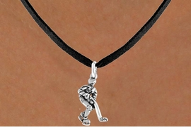 <bR>                 EXCLUSIVELY OURS!!<Br>           AN ALLAN ROBIN DESIGN!!<BR>  CLICK HERE TO SEE 120+ EXCITING<BR>     CHANGES THAT YOU CAN MAKE!<BR>                LEAD & NICKEL FREE!!<BR>  W739SN - HOCKEY PLAYER CHARM<BR>     NECKLACE FROM $4.05 TO $7.50