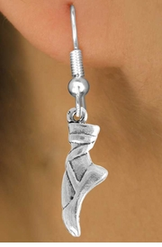 "<bR>                 EXCLUSIVELY OURS!!<Br>           AN ALLAN ROBIN DESIGN!!<BR>  CLICK HERE TO SEE 120+ EXCITING<BR>     CHANGES THAT YOU CAN MAKE!<BR>                LEAD & NICKEL FREE!!<BR>      W745SE - ""BALLET SLIPPER"" &<BR>     EARRINGS FROM $3.25 TO $8.00"