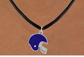 <bR>                EXCLUSIVELY OURS!!<Br>          AN ALLAN ROBIN DESIGN!!<BR> CLICK HERE TO SEE 120+ EXCITING<BR>    CHANGES THAT YOU CAN MAKE!<BR>                LEAD & NICKEL FREE!!<BR>W821SN - BLUE FOOTBALL HELMET<Br>    NECKLACE FROM $4.50 TO $8.35