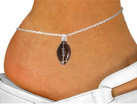 <bR>               EXCLUSIVELY OURS!!<Br>         AN ALLAN ROBIN DESIGN!!<BR>CLICK HERE TO SEE 120+ EXCITING<BR>   CHANGES THAT YOU CAN MAKE!<BR>               LEAD & NICKEL FREE!!<BR>            W825SAK - FOOTBALL<Br>      ANKLET FROM $4.50 TO $8.35