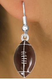 <bR>               EXCLUSIVELY OURS!!<Br>         AN ALLAN ROBIN DESIGN!!<BR>CLICK HERE TO SEE 120+ EXCITING<BR>   CHANGES THAT YOU CAN MAKE!<BR>               LEAD & NICKEL FREE!!<BR>             W825SE -FOOTBALL<Br>  EARRINGS FROM $4.50 TO $8.35