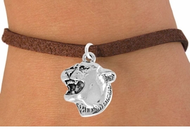 <bR>               EXCLUSIVELY OURS!!<Br>         AN ALLAN ROBIN DESIGN!!<BR>CLICK HERE TO SEE 120+ EXCITING<BR>   CHANGES THAT YOU CAN MAKE!<BR>               LEAD & NICKEL FREE!!<BR>          W826SB - COUGAR HEAD<Br>    BRACELET FROM $4.50 TO $8.35
