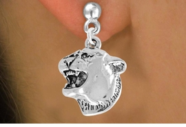 <bR>               EXCLUSIVELY OURS!!<Br>         AN ALLAN ROBIN DESIGN!!<BR>CLICK HERE TO SEE 120+ EXCITING<BR>   CHANGES THAT YOU CAN MAKE!<BR>               LEAD & NICKEL FREE!!<BR>           W826SE -COUGAR HEAD<Br>  EARRINGS FROM $3.25 TO $8.00
