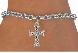 <bR>                 EXCLUSIVELY OURS!!<Br>           AN ALLAN ROBIN DESIGN!!<BR>  CLICK HERE TO SEE 120+ EXCITING<BR>     CHANGES THAT YOU CAN MAKE!<BR>                LEAD & NICKEL FREE!!<BR>      W828SB - AUSTRIAN CRYSTAL<Br>     ACCENTED CELTIC KNOT CROSS <Br>    BRACELET FROM $4.40 TO $8.25