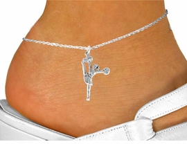 "<bR>                  EXCLUSIVELY OURS!!<Br>            AN ALLAN ROBIN DESIGN!!<BR>   CLICK HERE TO SEE 120+ EXCITING<BR>      CHANGES THAT YOU CAN MAKE!<BR>                 LEAD & NICKEL FREE!!<BR>W833SAK - ""HIGH-KICK CHEERLEADER""<Br>       ANKLET FROM $4.50 TO $8.35"