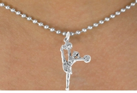 "<bR>                  EXCLUSIVELY OURS!!<Br>            AN ALLAN ROBIN DESIGN!!<BR>   CLICK HERE TO SEE 120+ EXCITING<BR>      CHANGES THAT YOU CAN MAKE!<BR>                 LEAD & NICKEL FREE!!<BR>W833SN - ""HIGH-KICK CHEERLEADER""<Br>       NECKLACE FROM $4.05 TO $7.50"