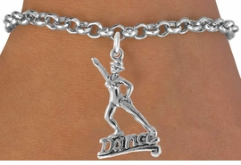 "<bR>                  EXCLUSIVELY OURS!!<Br>            AN ALLAN ROBIN DESIGN!!<BR>   CLICK HERE TO SEE 1600+ EXCITING<BR>      CHANGES THAT YOU CAN MAKE!<BR>    LEAD, CADMIUM,  & NICKEL FREE!!<BR>          W834SB - ""DANCE"" CHARM<Br>      BRACELET FROM $3.65 TO $7.50<BR>                            ©2011"
